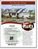 home for sale by owner flyer template - real estate flyer templates xerox for small businesses